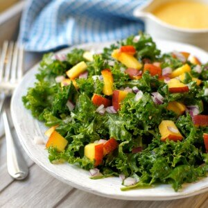 Kale and Peach Salad