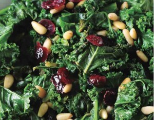 Kale with Nuts and Raisins
